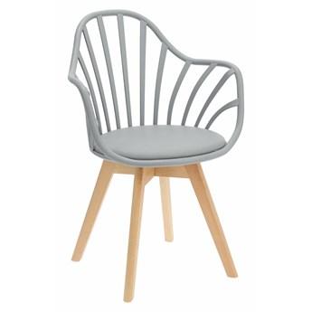 Szare krzesło patyczak - Malene 3X