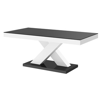 Komfortowa ława biało - czarna - Canelo 2X