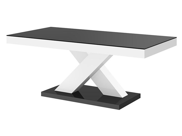 Praktyczny ławostół biało - czarny połysk - Canelo 3X Szerokość 60 cm Długość 60 cm Wysokość 49 cm Płyta MDF Kolor Szary Kolor Biały