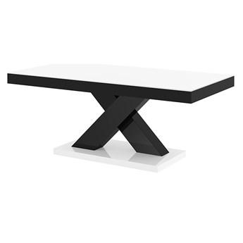 Praktyczny ławostół czarno - biały połysk - Canelo 3X