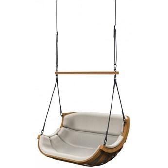 Beżowy podwójny fotel ogrodowy - Pasos 8X