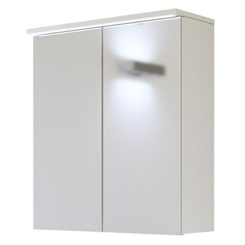 Wisząca szafka łazienkowa z lustrem - Marbella 7X Biały 60 cm