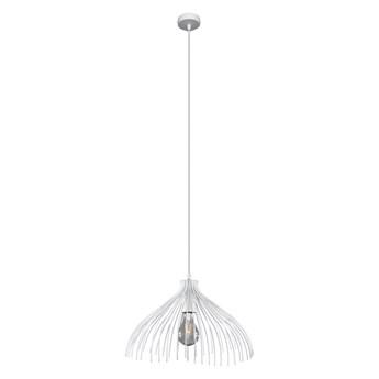 Biała industrialna lampa wisząca - EX583-Umba