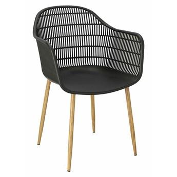 Wygodne krzesło czarne ażurowe - Ulmo