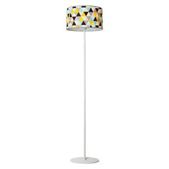 Lampa podłogowa z okrągłym kolorowym abażurem - EX495-Hestix
