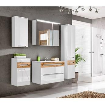 Zestaw szafek łazienkowych - Marbella 2Q Biały połysk