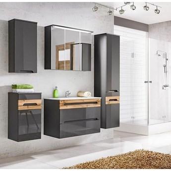 Zestaw szafek łazienkowych - Marbella 2Q Grafit połysk