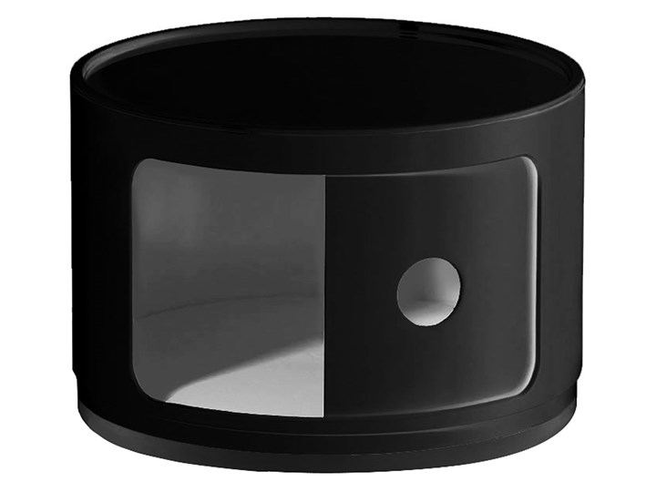 Okrągła czarna szafka nocna - Pris 2X