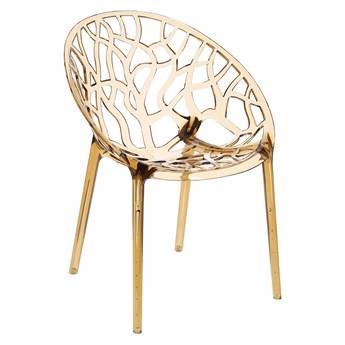 Bursztynowe krzesło ażurowe - Melbu