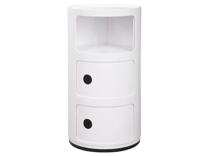 Okrągła i wysoka szafka nocna - Pris 4X Styl Minimalistyczny Pomieszczenie Sypialnia