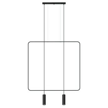 Czarna lampa wisząca tuba nad stół - EX598-Rani