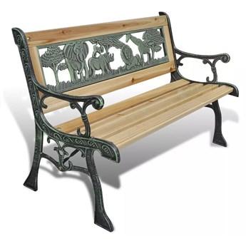 Drewniana ławka ogrodowa dla dzieci Ponter - brązowa
