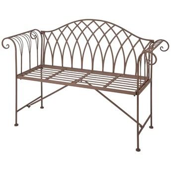 Metalowa ławka ogrodowa Foner - brązowa