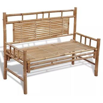 Drewniana ławka ogrodowa Calmer - brązowa