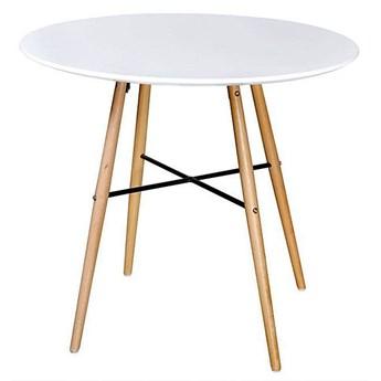 Okrągły stół Diodor - biały