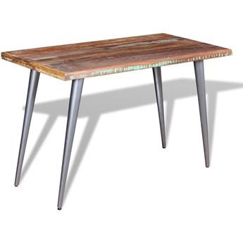 Wielokolorowy stół z drewna z odzysku – Laben