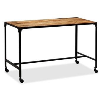 Stół industrialny Bien na kółkach – brązowy