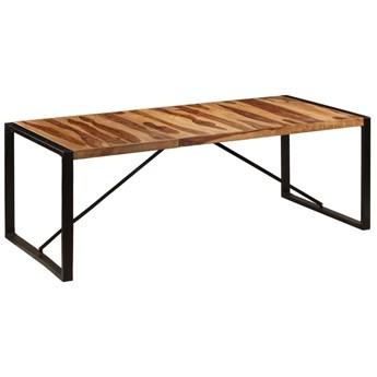 Brązowy stół z drewna sheesham 100x220 – Veriz 7X