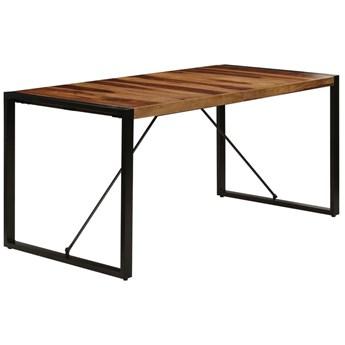 Brązowy stół z sheesham 80x160 – Veriz 4X