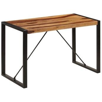 Brązowy stół z drewna sheesham 60x120 – Veriz 2X