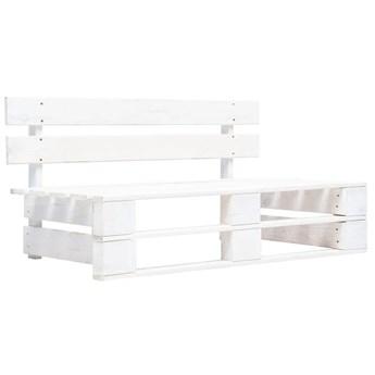 Biała ławka ogrodowa z palet - Bradley 2X