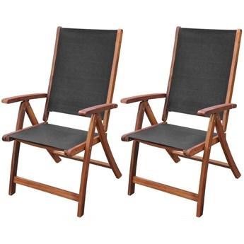 Zestaw drewnianych krzeseł ogrodowych - Taloma
