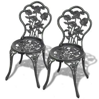 Zestaw metalowych krzeseł ogrodowych Mesa - zielony