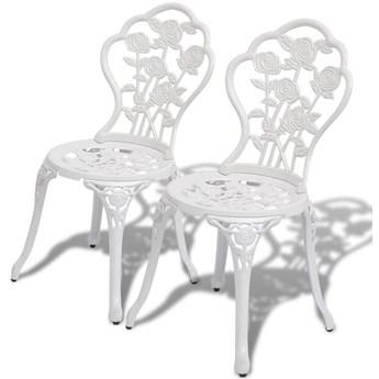 Zestaw metalowych krzeseł ogrodowych Mesa - biały