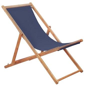 Granatowy leżak drewniany - Inglis 2X
