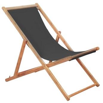 Szary składany leżak na plażę - Inglis 2X