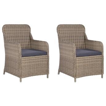 Krzesła ogrodowe z poduszkami Grafton 2 szt - brąz