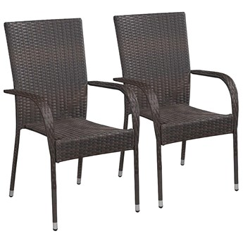 Zestaw brązowych krzeseł ogrodowych - Nelly