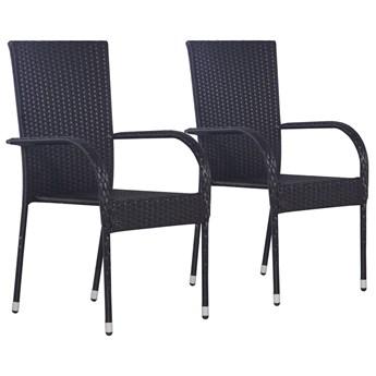 Zestaw czarnych krzeseł ogrodowych - Nelly