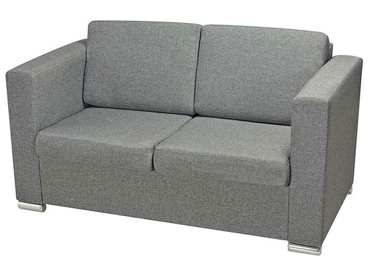 Dwuosobowa jasnoszara sofa loftowa - Sigala 2Q Głębokość 73 cm Rozkładanie