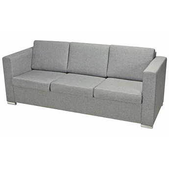 Trzyosobowa jasnoszara sofa loftowa - Sigala 3Q
