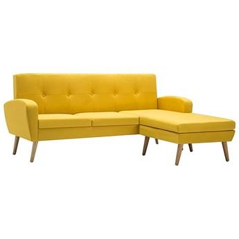 Narożnik z leżanką żółty - Anita 4Q