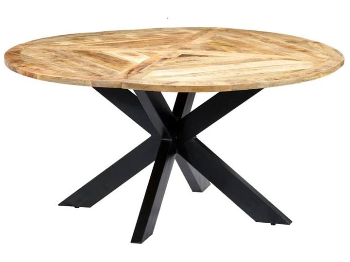Okrągły stół z drewna mango – Gebel 3X Wysokość 76 cm Długość 150 cm  Drewno Kategoria Stoły kuchenne Kolor Beżowy