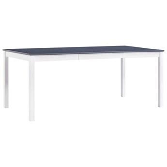Stół minimalistyczny z sosny Elmor 3X – biało-szary