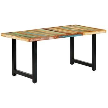Stół z drewna odzyskanego Buzel 2X – wielokolorowy