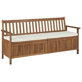 Drewniana ławka ogrodowa Canat 2X - brązowa