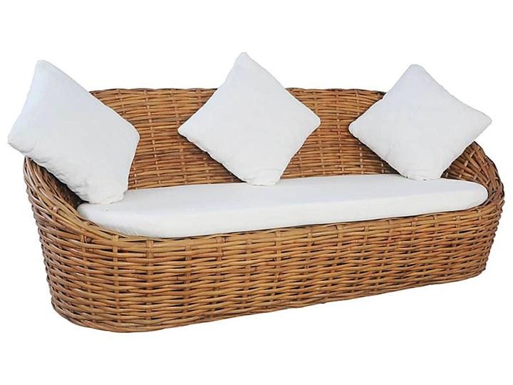 Trzyosobowa sofa z naturalnego rattanu - Prima Drewno Kategoria Sofy ogrodowe Kolor Brązowy