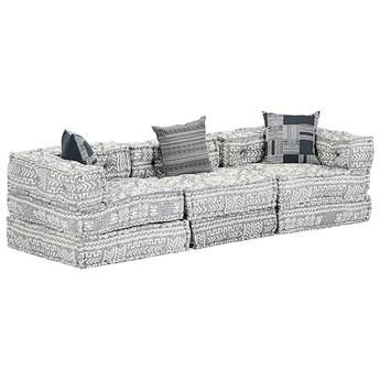 Trzyosobowa szara sofa modułowa - Demri 5D