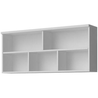 Nowoczesna półka ścienna Florentino 6X - biała