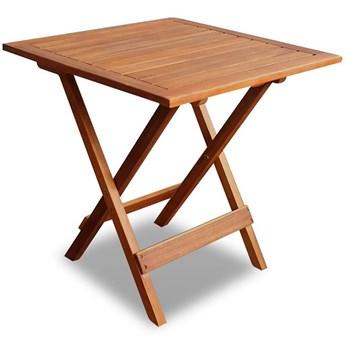 Brązowy drewniany stolik ogrodowy - Caden