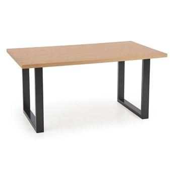 Rozkładany stół industrialny do salonu Lopez 2X 160 XL - dąb