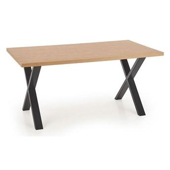 Industrialny stół do jadalni i salonu Lopez 3X 160 - dąb
