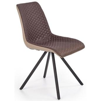 Pikowane krzesło Malta - brązowe