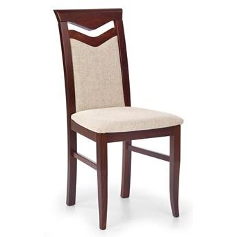 Drewniane krzesło kuchenne Eric - ciemny orzech