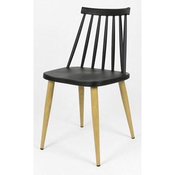 Loftowe krzesło patyczak Tobio - czarne