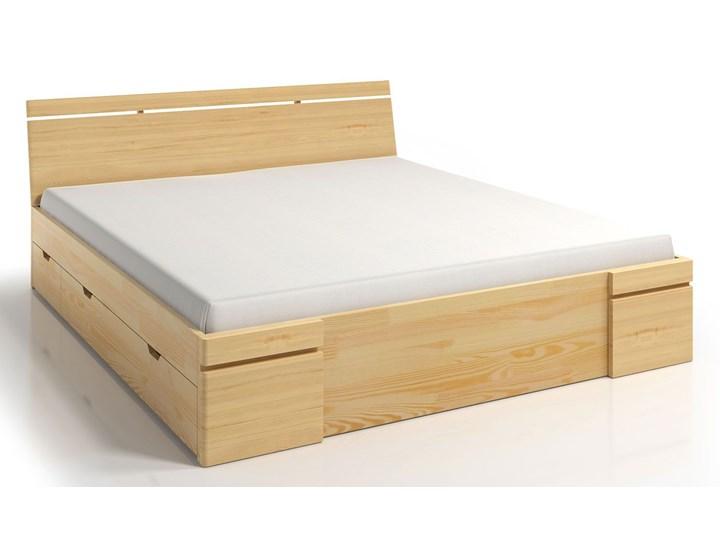 Drewniane łóżko z szufladami Ventos 5X - 5 ROZMIARÓW Łóżko drewniane Rozmiar materaca 120x200 cm
